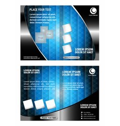 Leaflet Brochure Flyer Booklet Cover template vector image