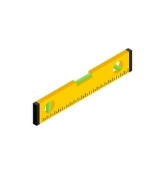 Level measurement icon isometric 3d style vector image