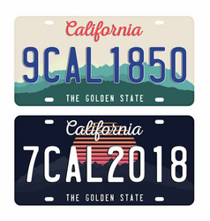 License plates isolated on white background vector
