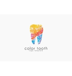 logo template silhouettes tooth vector image