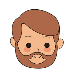 Man cute cartoon icon image vector