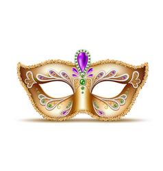Mardi gras venetian mask brazil carnival vector