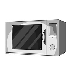 Microwave single icon in monochrome style vector