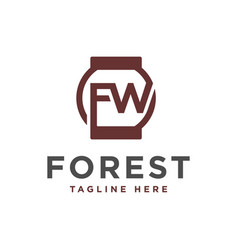 modern logo with letter fw vector image
