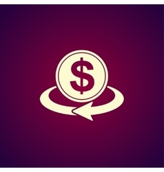 Money convert icon vector