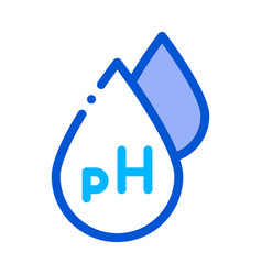Neutral ph drop icon outline vector