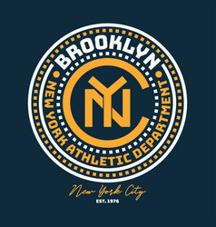 New york brooklyn typography for design clothes vector