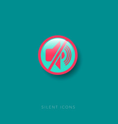 No sound red crossed icon silence vector