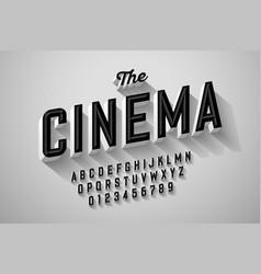old movie title vintage font vector image