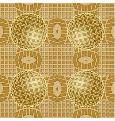 Optical art background with 3d golden vector