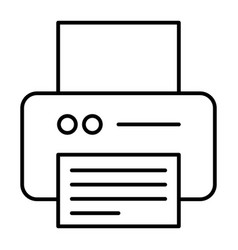 Printer thin line icon office printer vector