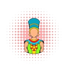 Queen of Egypt icon comics style vector image