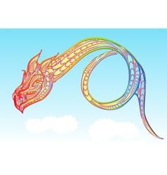 Rainbow dragon vector