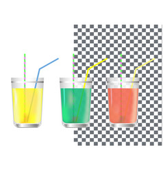 Realistic glass of juice vector