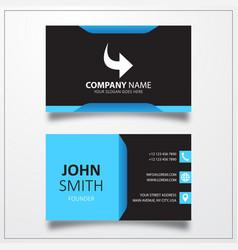 Redo icon business card template vector