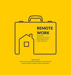 Remote work vector