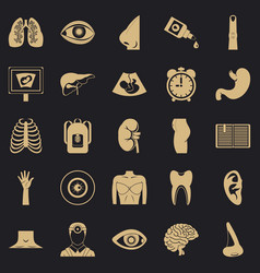 Scan icons set simple style vector