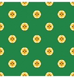 Seamless pattern casino chips vector image