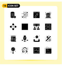 Set 16 modern ui icons symbols signs for home vector