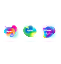 set abstract liquid elements for background vector image