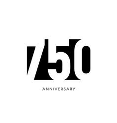 Seven hundred anniversary minimalistic logo vector