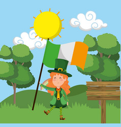 st patricks day elf vector image