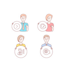 third party forward and reload icons world globe vector image
