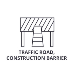 traffic road construction barrier line vector image