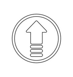 Upload arrow of digital concept vector image