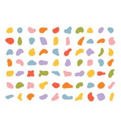 Various blotch random color blobs round abstract vector