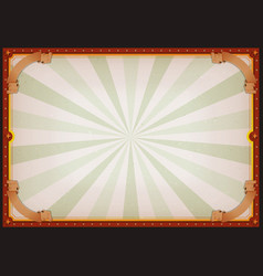 Vintage blank circus poster sign vector