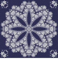 Vintage elegant lace snowflake vector