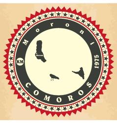 Vintage label-sticker cards of comoros vector