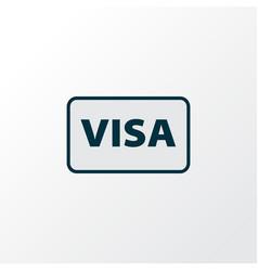 visa icon colored line symbol premium quality vector image