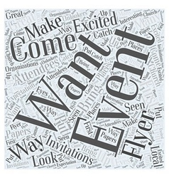 Ways To Get Attendees To Your Events Word Cloud vector image