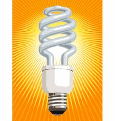 energy saver light bulb vector image vector image