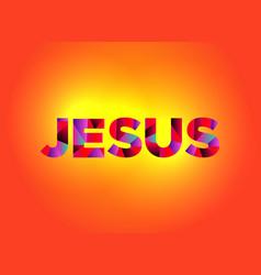 jesus theme word art vector image