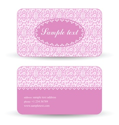 Lacy card vector image