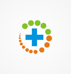 Medical protection hospital logo vector