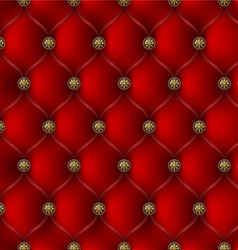 red leather upholstery vector image vector image