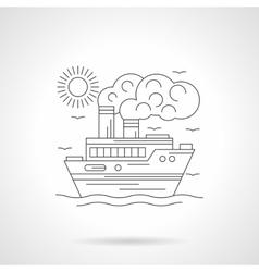 Steamship detailed line vector image vector image