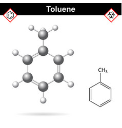 toluene organic solvent chemical structure vector image vector image