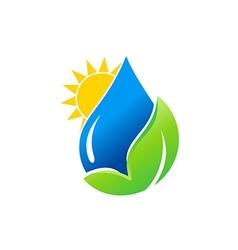 water drop bio green leaf nature logo vector image vector image