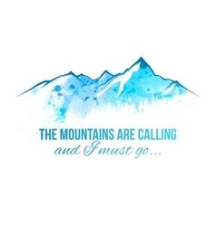 watercolor mountains border vector image vector image