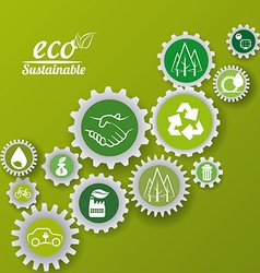 Eco sustainibility vector