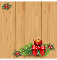wood and candle vector image vector image