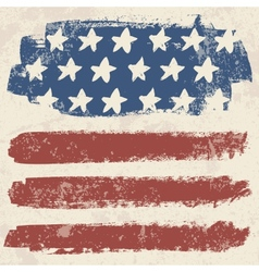 American flag vintage textured background vector image vector image