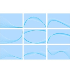 blue business cards collection vector image