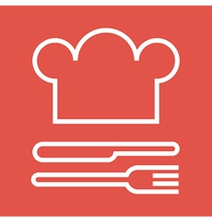 Chef hat fork and knife vector image