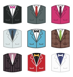 Suit icons vector